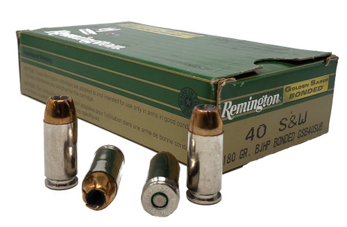 Remington Golden Saber Bonded - 40 S&W - 180 Grain Brass Jacketed Hollow Point Bonded - 100 Rounds W/ Ammo Can