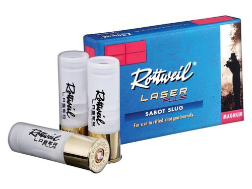 "Rottweil Laser Plus Ammunition - 12 Gauge - 2 3/4""- 1 1/4 oz. Sabot Slug - 50 Rounds W/ Ammo Can"