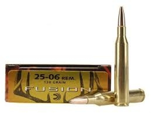 Federal Fusion Ammunition - 25-06 Remington - 120 Grain Fusion Soft Point - 80 Rounds W/ Free Ammo Can
