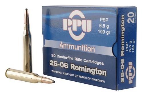 Prvi Partizan Ammunition - 25-06 Remington - 100 Grain Soft Point - 100 Rounds W/ Ammo Can
