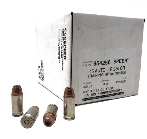 Speer Ammunition - 45 Auto +P - 230 Grain Gold Dot Hollow Point - 200 Rounds - Case