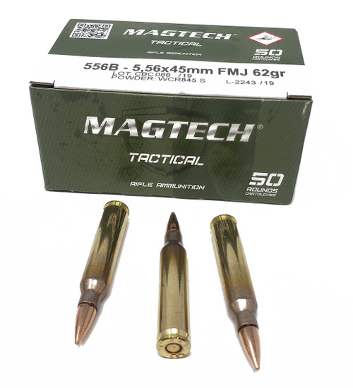 Magtech Tactical Ammunition - 5.56x45 MM Nato - 62 Grain Full Metal Jacket - 500 Rounds W/ Ammo Can
