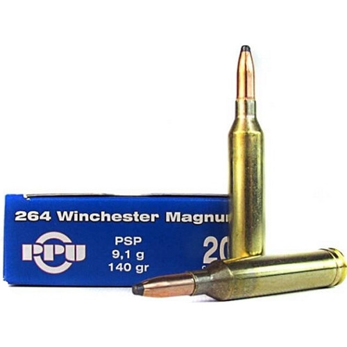 Prvi Partizan Ammunition - 264 Winchester Mag - 140 Grain Soft Point - 80 Rounds W/ Ammo Can