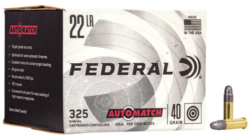 Federal AutoMatch Ammunition - 22 Long Rifle - 40 Grain Lead Round Nose - 650 Rounds W/ Free Ammo Can