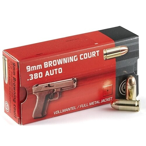 Geco Ammunition - 380 Auto - 95 Grain - Full Metal Jacket - 500 Rounds W/ Free Ammo Can- Brass Case