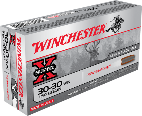 Winchester Super-X - 30-30 Winchester - 150 Grain Power-Point - 100 Rounds W/ Free Ammo Can