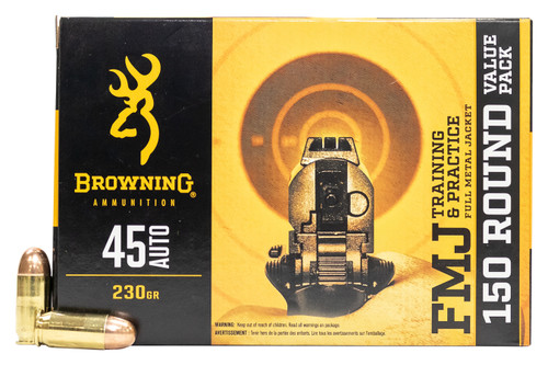 Browning Ammunition - 45 Auto - 230 Grain Full Metal Jacket - 300 Rounds W/ Free Ammo Can