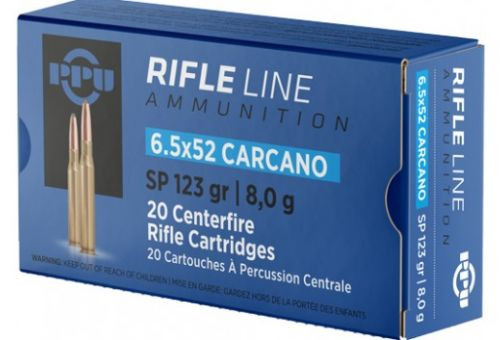 Prvi Partizan Ammunition - 6.5x52 Carcano - 123 Grain Soft Point - 100 Rounds W/ Free Ammo Can
