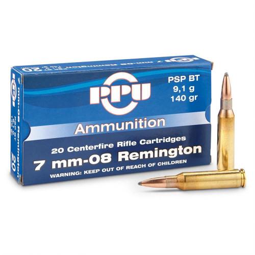 Prvi Partizan Ammunition - 7MM-08 Remington - 140 Grain Soft Point - 100 Rounds W/ Free Ammo Can
