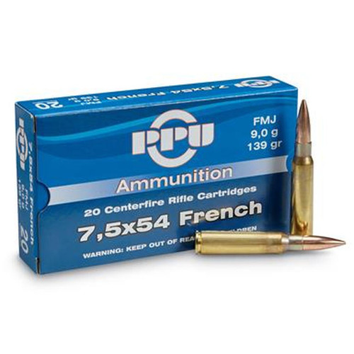 Prvi Partizan Ammunition - 7.5x54 French - 139 Grain Full Metal Jacket - 100 Rounds W/ Free Ammo Can