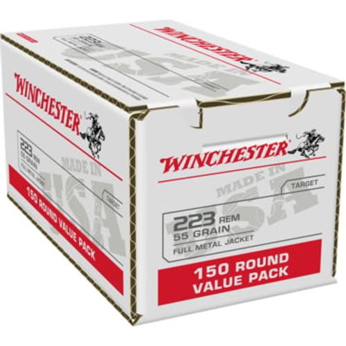Winchester Lake City  Ammunition - 223 Remington - 55 Grain Full Metal Jacket - 600 Rounds - Brass Case