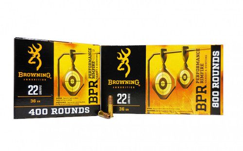 Browning Ammunition - 22 Long Rifle - 36 Grain Copper Hollow Point - 1600 Rounds - Case