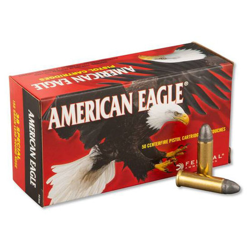 Federal American Eagle Ammunition - 38 Special - 158 Grain Lead Round Nose - 250 Rounds W/ Free Ammo Can