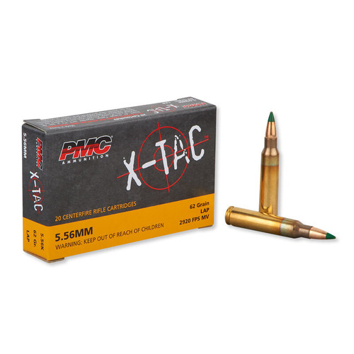 PMC X-TAC Ammunition - 5.56x45 MM - 62 Grain Full Metal Jacket LAP - 200 Rounds W/ Free Ammo Can