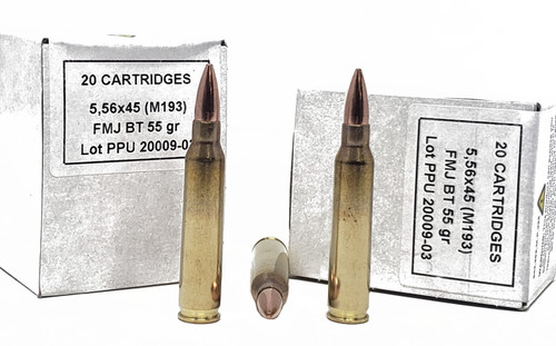 Prvi Partizan Ammunition - 5.56x45 MM - 55 Grain Full Metal Jacket - 200 Rounds W/ Free Ammo Can