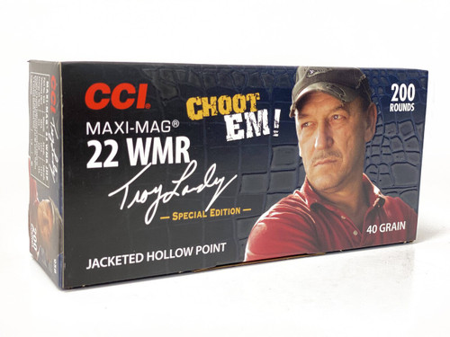 CCI Maxi Mag Ammunition - 22 Winchester Magnum - 40 Grain Jacketed Hollow Point - 200 Rounds - Brass Case
