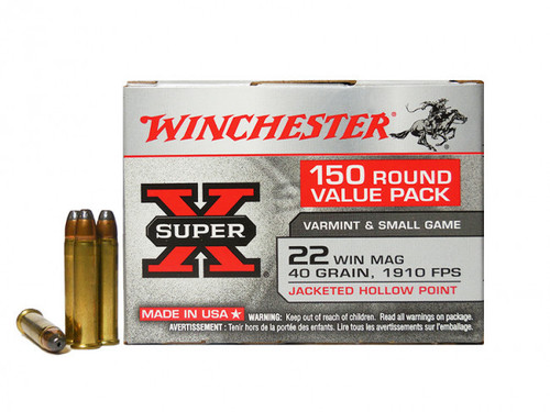 Winchester Super-X Ammunition - 22 Winchester Magnum - 40 Grain Hollow Point - 300 Rounds W/ Free Ammo Can