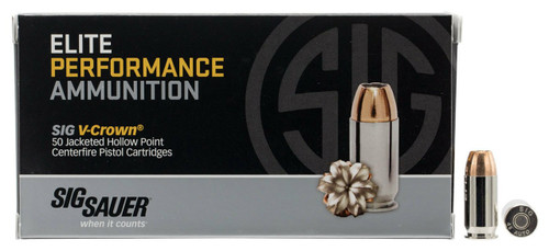 Sig Sauer Elite Performance - 45 ACP - 200 Grain V-Crown Jacketed Hollow Point  - 250 Rounds W/ Free Ammo Can