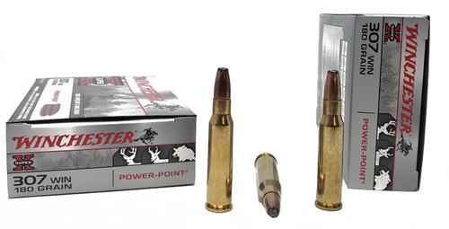 Winchester Super-X Ammunition - 307 Winchester - 180 Grain Power Point - 200 Rounds - Case