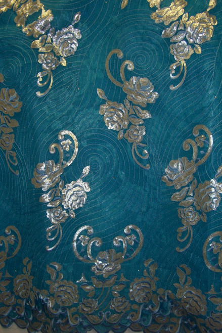 Organza & Net with Sequins - FL48 Sky Blue