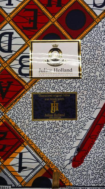 Julius Holland Wax Block Print - JH002