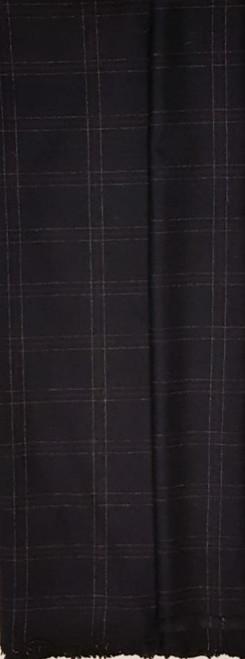 Elegant Italian Wool Check Navy - EIW03