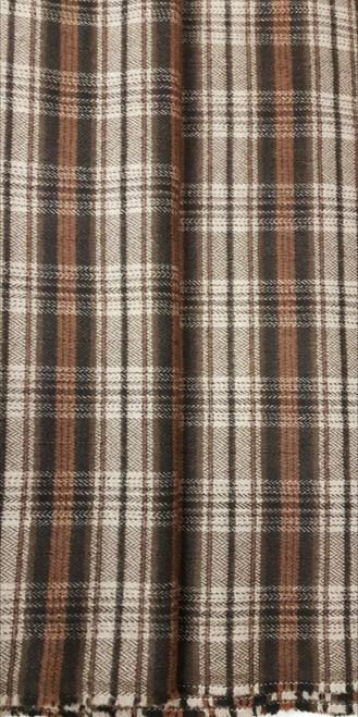 Elegant Italian Wool Check Brown - EIW04