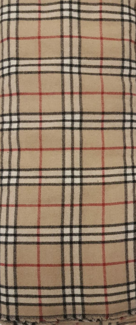 Elegant Italian Wool Check Brown - EIW09