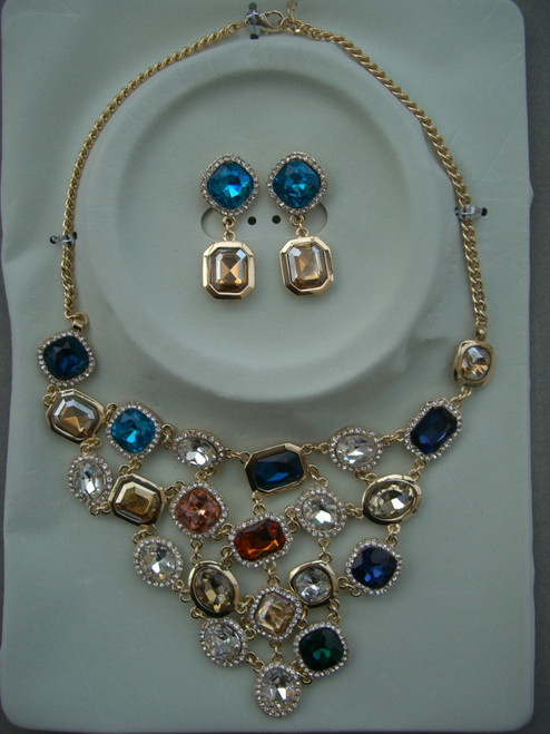 Multi Coloured Jewel Necklace