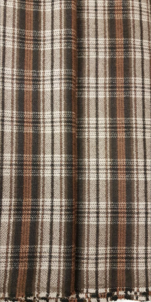 Elegant Italian Wool Check Brown - EIW04