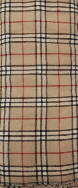 Elegant Italian Wool Check Brown - EIW09