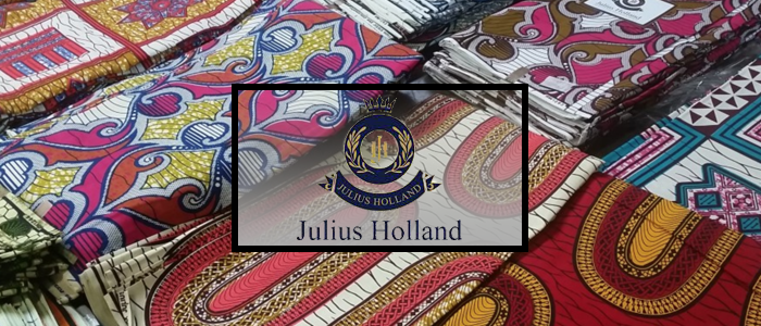 Established in 2002, Julius Holland is a luxury African wax print brand, made for modern women and men from all over the world – focused on those who are curious, sophisticated and fashion-oriented, but also with a strong sense of identity, personal vision and respect for traditions. Julius Holland is made for everyone and every day, it is unique in its own right by using  personal sense and well established experience to create beautiful prints.