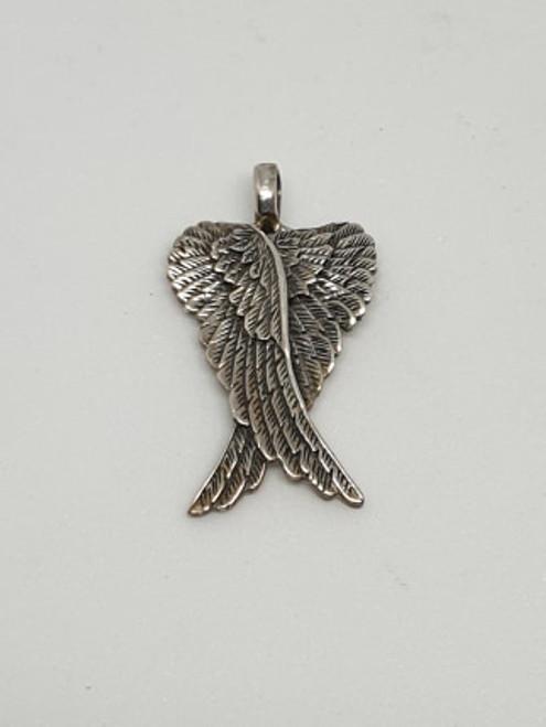 Sterling Silver: Double Angel Wings Pendant