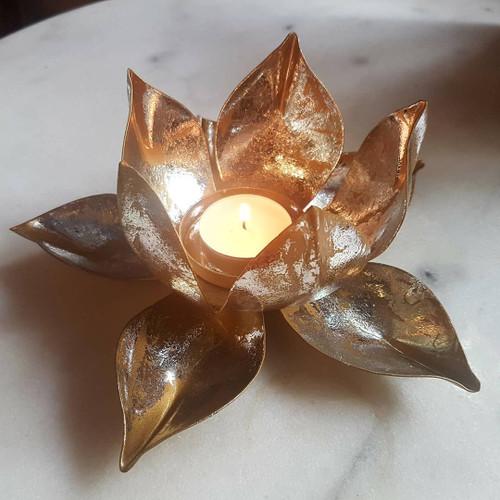 Metal Lotus Candle Holder