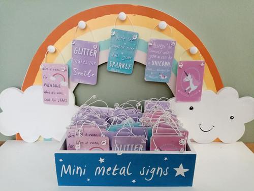 Mini Metal Signs - Glitter