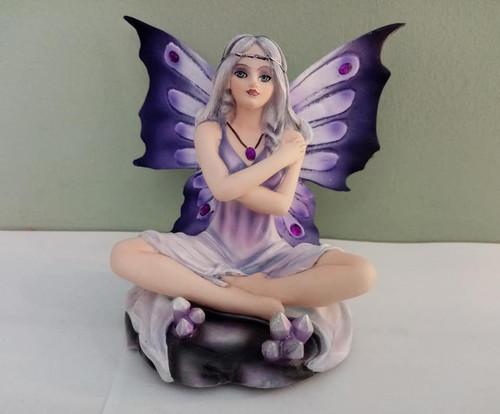 Amethyst Fairy Statue