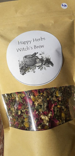 Happy Herbs Loose Leaf Tea - Lift your spirits with this happy blend, use 1-2 teaspoons per mug. Organic, vegan and hand blended with love! Only available at Tir na nOg.  50g bag  Ingredients: Chamomile, Lemon Balm, Rose Petals, Peppermint, Spearmint, St Johns Wort.