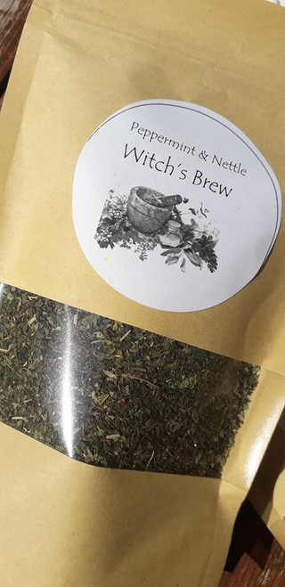 Peppermint and Nettle Loose Leaf Herbal Tea - Take it easy with this comforting blend, use 1-2 teaspoons per mug. Organic, vegan and hand blended with love! Only available at Tir na nOg.  50g bag  Ingredients: Peppermint, Nettle and Lemon Verbena