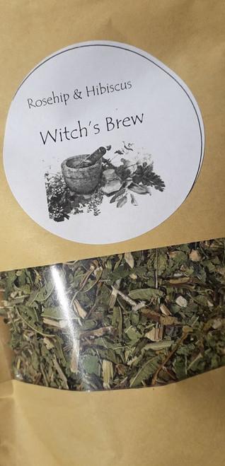Rosehip and Hibiscus Loose Leaf Herbal Tea - use 1-2 teaspoons per mug. Organic, vegan and hand blended with love! Only available at Tir na nOg.  50g bag  Ingredients: Rosehip, Hibicus, Echinacea, Lemon Verbena
