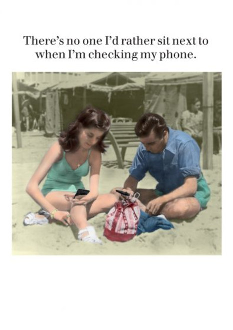 Card - Checking My Phone