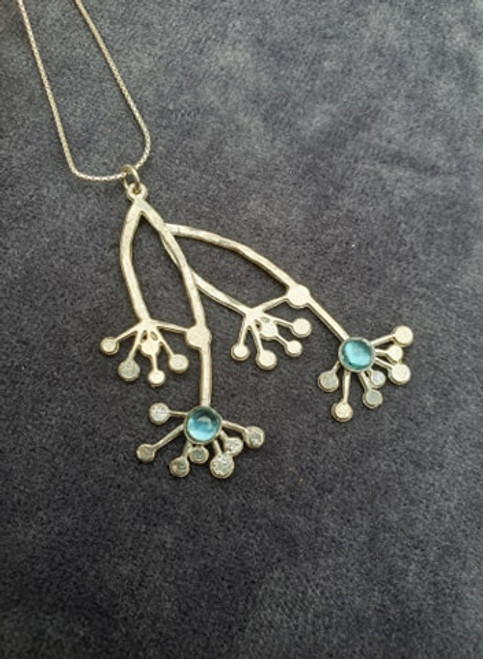 Silver and Blue Topaz Necklace