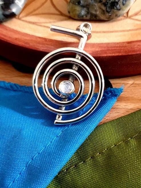 Cho Ku Rei Reiki Pendant - Silver and Moonstone