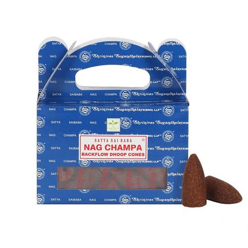 Backflow Incense Cones - Satya Nag Champa