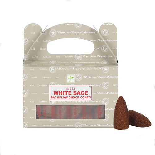 Backflow Incense Cones - Satya White Sage