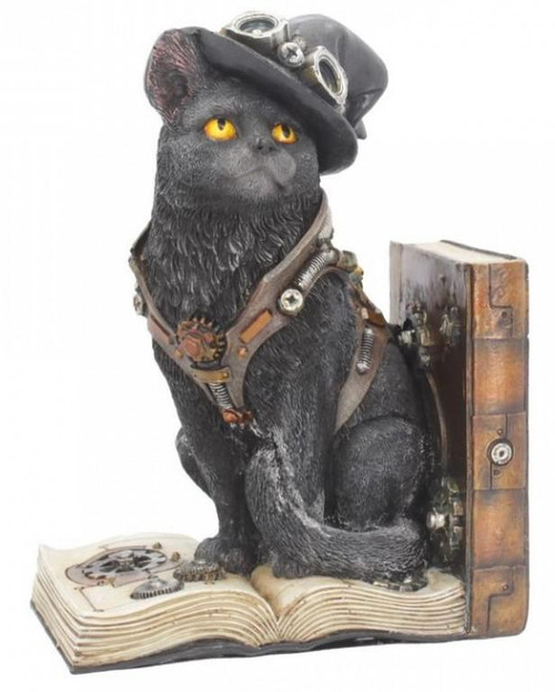 Steampunk Cat Bookend