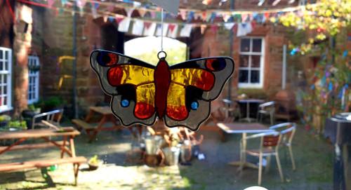 Suncatcher - Peacock Butterfly