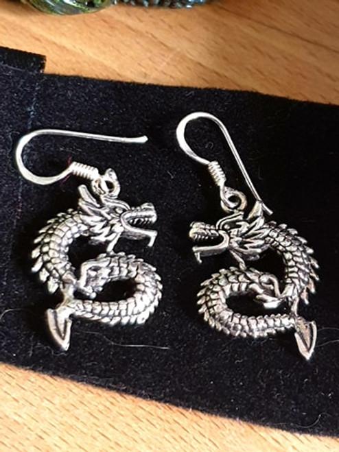 Dragon Earrings (925 Silver)