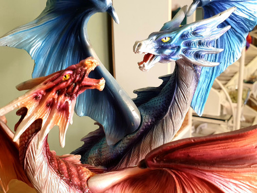 Dragon Figurines : FIre & Ice