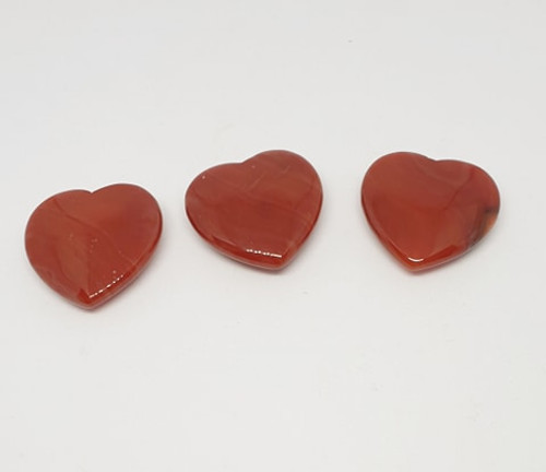 Small Crystal Heart - Carnelian
