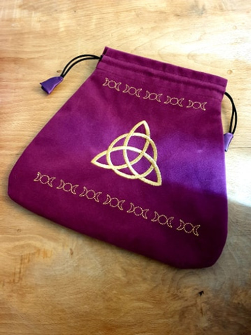 Claret Velvet Pouch (ideal for Tarot etc) - Goddess